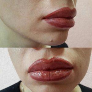 Накачать губы татуажем 3