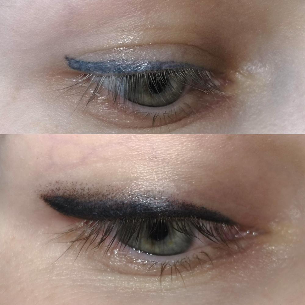 сути это исправление татуажа глаз фото следующем- выводит